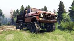 Ford F-100 6x6 v1.1 rusty für Spin Tires