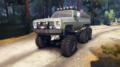 Chevrolet K5 Blazer 1975 Equipped 6x6 army green pour Spin Tires