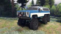 Chevrolet K5 Blazer 1975 Equipped blue and white pour Spin Tires