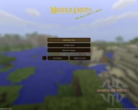 Middle Earth: A LOTR pack [128x][1.8.8] pour Minecraft