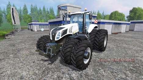 New Holland T8.320 White Dualls pour Farming Simulator 2015