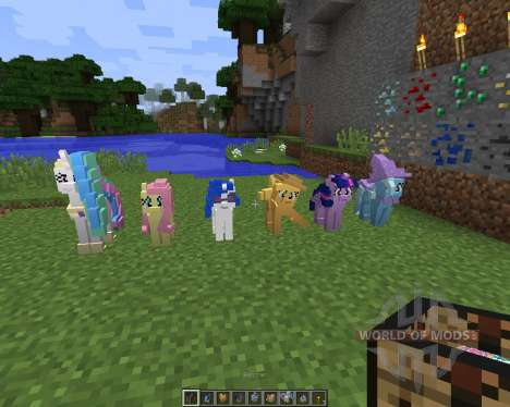 The My Little Pony Model Pack [32x][1.8.1] pour Minecraft