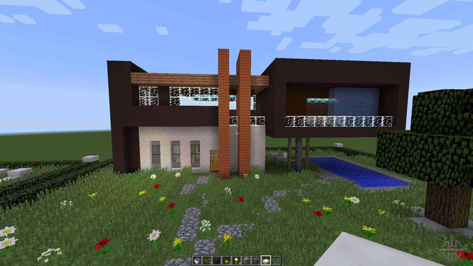 awesome maison de luxe moderne minecraft ideas amazing house design. Black Bedroom Furniture Sets. Home Design Ideas