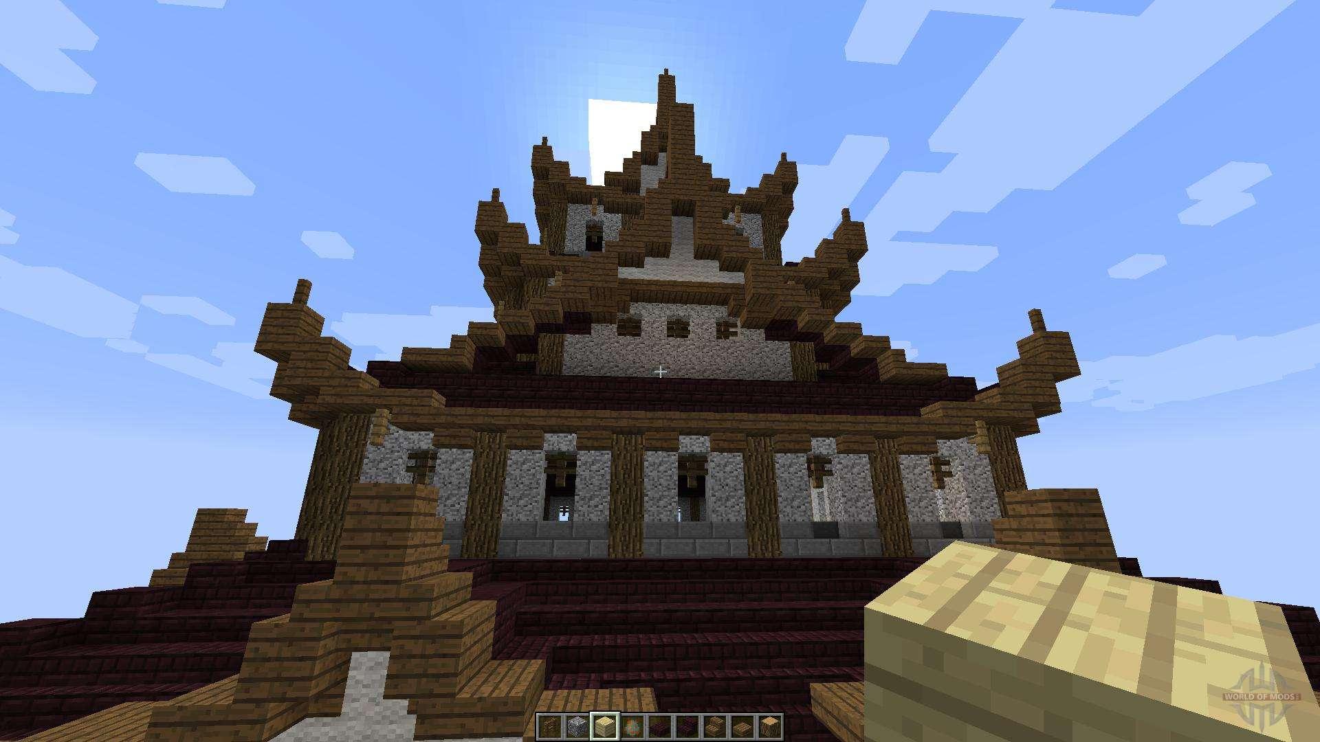 Japanese castle 1 8 1 8 8 pour minecraft - Chateau de minecraft ...