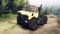 Mercedes-Benz Unimog U1500L 6х6 jaune pour Spin Tires