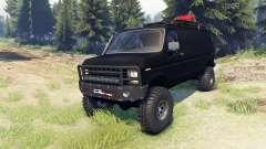 Ford E-350 Econoline 1990 v1.1 flat black für Spin Tires