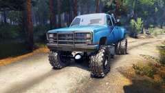Chevrolet Silverado Dually Crew Cab v1.4 blue für Spin Tires