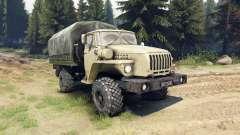 Ural-43206 ist ein 4x4 für Spin Tires
