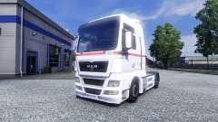 Haut Räder Logistik auf dem LKW MAN für Euro Truck Simulator 2