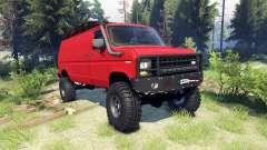 Ford E-350 Econoline 1990 v1.1 red für Spin Tires