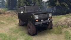 International Scout II 1977 black für Spin Tires