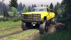 Chevrolet Silverado Dually Crew Cab v1.4 yellow pour Spin Tires