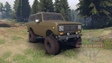 International Scout II 1977 drab green für Spin Tires