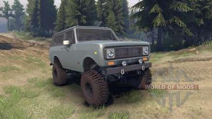 International Scout II 1977 agent silver für Spin Tires
