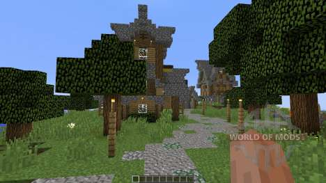 Old village in medieval style pour Minecraft