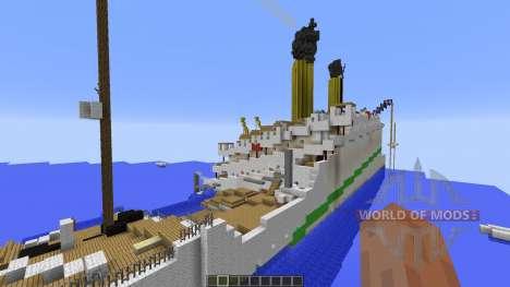 H.M.H.S.Britannic sinking pour Minecraft