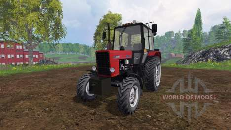MTZ-82.1 Belarus v2.0 rot für Farming Simulator 2015