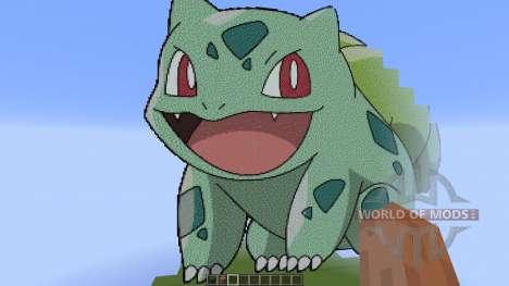 Giant Bulbasaur pixelart pour Minecraft