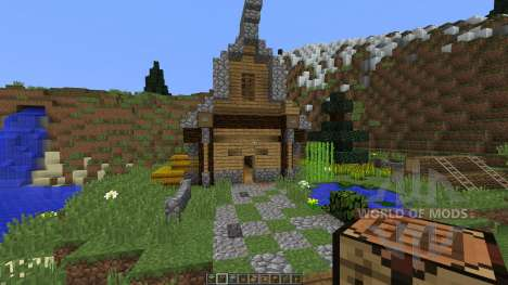 Medieval House on a little Island für Minecraft