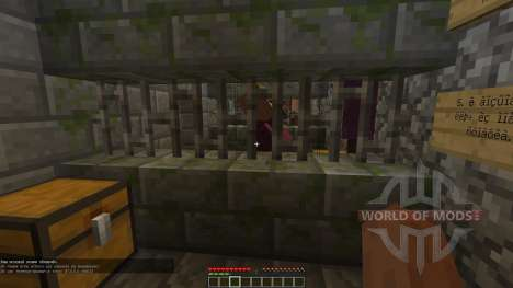 Les catacombes dans le sous-sol de la prison pour Minecraft