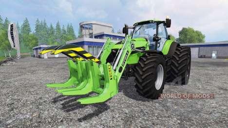 Deutz-Fahr Agrotron 7250 TTV front loader pour Farming Simulator 2015