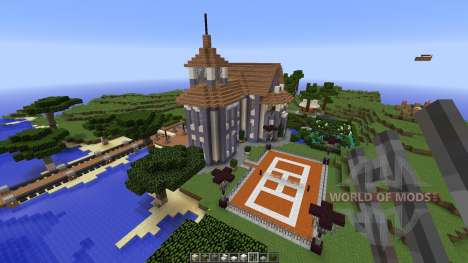 Contemporary colonial mansion pour Minecraft