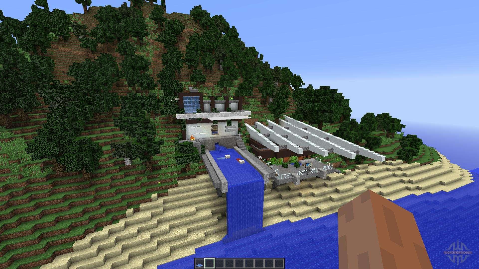 Modern Mountain House 1 Pour Minecraft