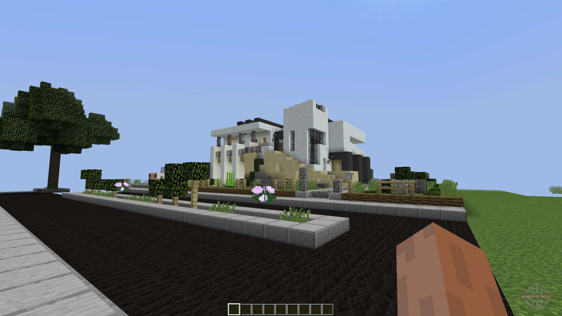 Phased modern house 1 8 1 8 8 pour minecraft for Minecraft modern house download 1 8