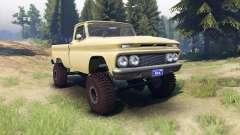 Chevrolet С-10 1966 Personnalisé de bois de santal tan pour Spin Tires