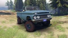 Chevrolet С-10 1966 Benutzerdefinierte marina blau für Spin Tires