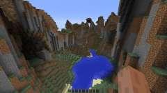 Mountain map für Minecraft
