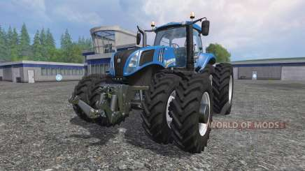 New Holland T8.320 row crop duals für Farming Simulator 2015