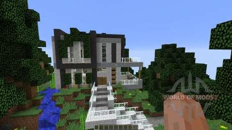 Modern Cliffside House für Minecraft