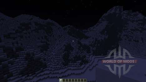 Realistic Snowy Mountains Costum Terrain für Minecraft