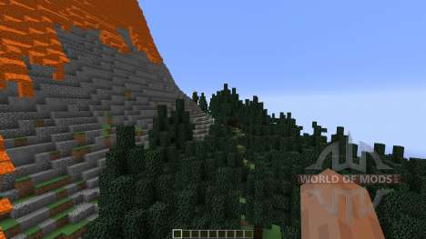 The Erupting Volcano Survival Map pour Minecraft