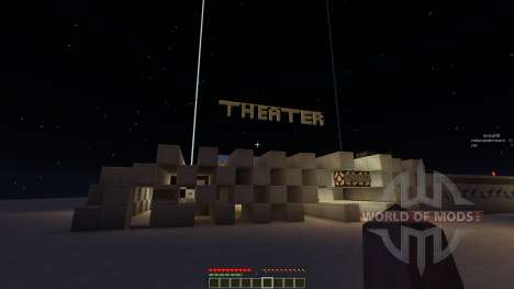Theater House and minecart renting system pour Minecraft