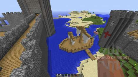 Small Giant Castle Water Base für Minecraft