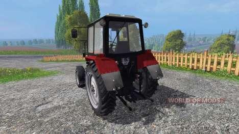 MTZ-82.1 Biélorussie rouge pour Farming Simulator 2015