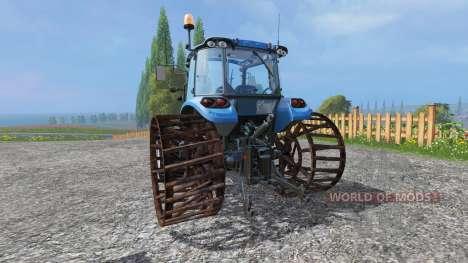 New Holland T4.75 v2.0 mit Stahl Felgen für Farming Simulator 2015