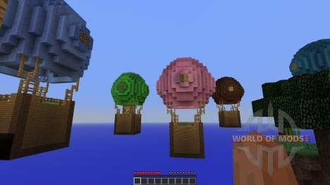 Hot Air Balloon Survival Survival Map für Minecraft