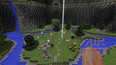 Big Closed Arena in a Dome with souterrains pour Minecraft