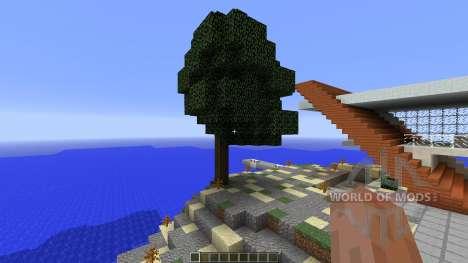 Diagonal Ultra Minimal Island Home für Minecraft