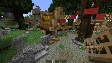 Medieval town für Minecraft