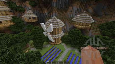 Mountain Sky Village Map für Minecraft