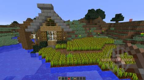 Bee Builds House on the Lake pour Minecraft