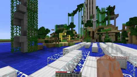 Dead town with parkour zones für Minecraft