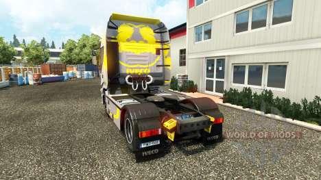 La peau Hi Way Jaune Gris sur le camion Iveco pour Euro Truck Simulator 2