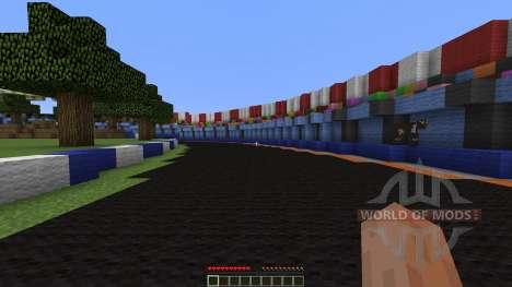 Mario Kart figure 8 circuit pour Minecraft