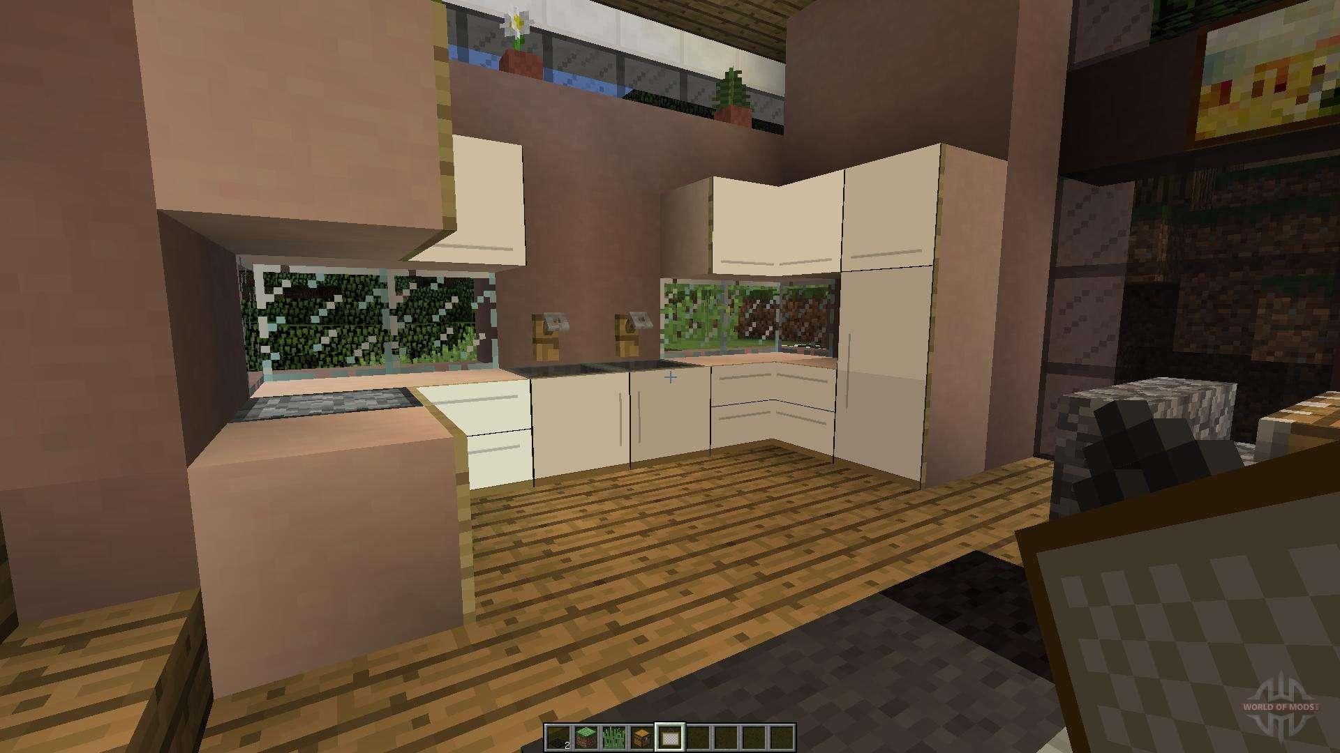 modern kitchen pour minecraft. Black Bedroom Furniture Sets. Home Design Ideas