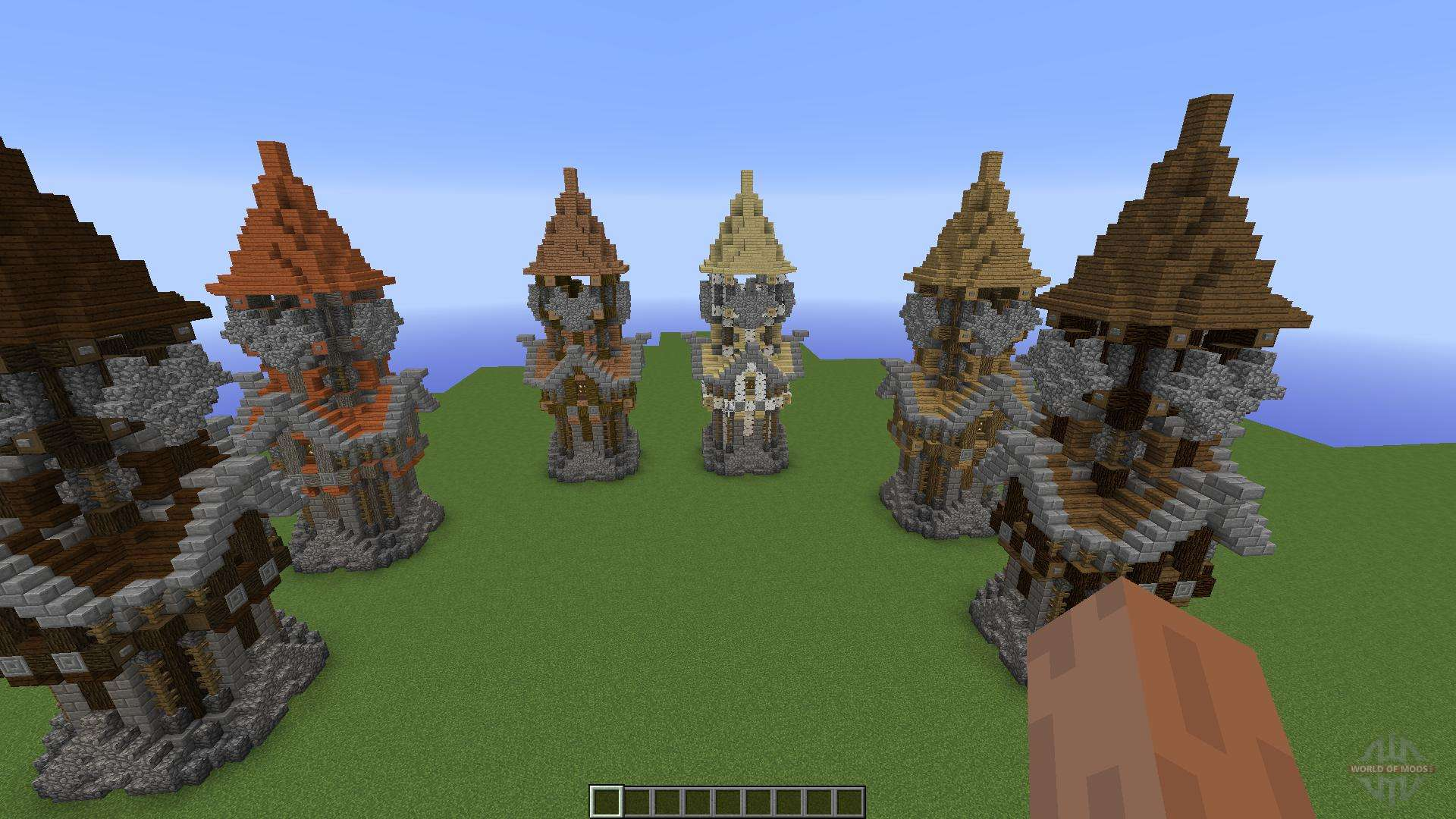 Medieval Tower Assorted Wood Variants F 252 R Minecraft